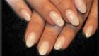 faux ongles nude pailleté