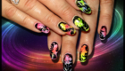 ongles pleins multicolores