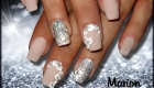 ongles nude et nail art 3d blanc